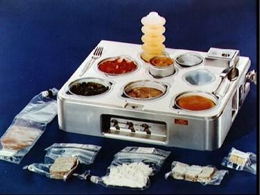 El menú lunar de Armstrong en la luna