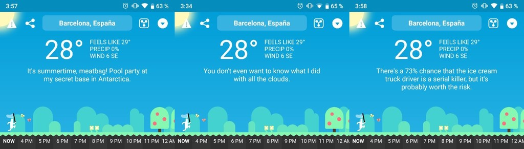 Carrot Weather, the fun and crazy application time triumphs