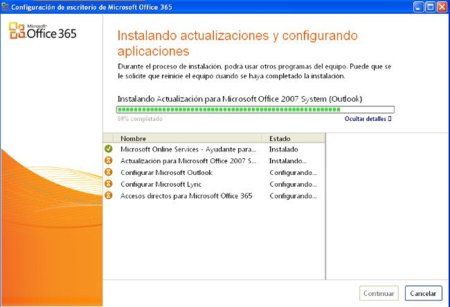 Instalando escritorio Office 365