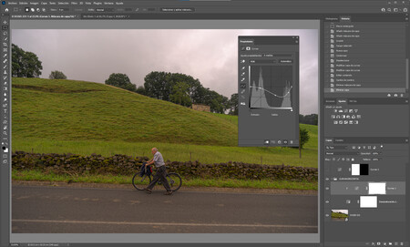 Curva horizontal Adobe Photoshop
