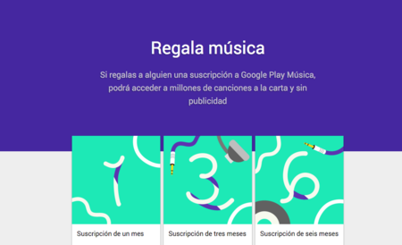 Google Play Music Gift llega a México, Brasil y Suiza