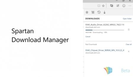 Spartan ya incluye un gestor de descargas en la build filtrada 10051 de Windows 10