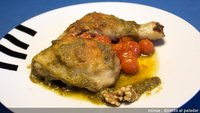 Receta de pollo al pesto verde