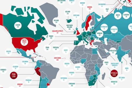 ¿En qué países se producen más y menos robos en domicilios? Este mapa lo ilustra