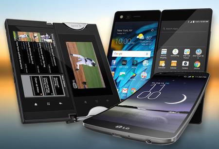 """El ZTE Axon M no es el único con una idea """"loca"""": de móviles con bisagras, pantallas curvas y otros diseños curiosos"""