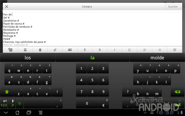 Swiftkey X Tablet