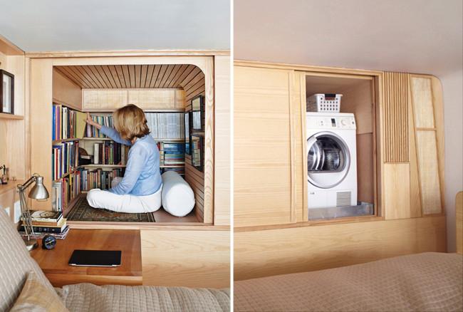 Un apartamento min sculo lleno de rincones secretos - Armario para lavadora y secadora ...