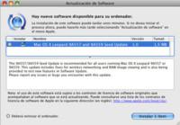 Nueva actualización de software en la beta de Leopard