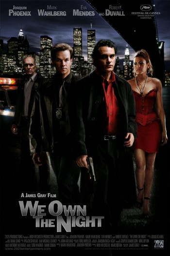 Póster de 'We Own the Night' con Joaquin Phoenix y Mark Wahlberg