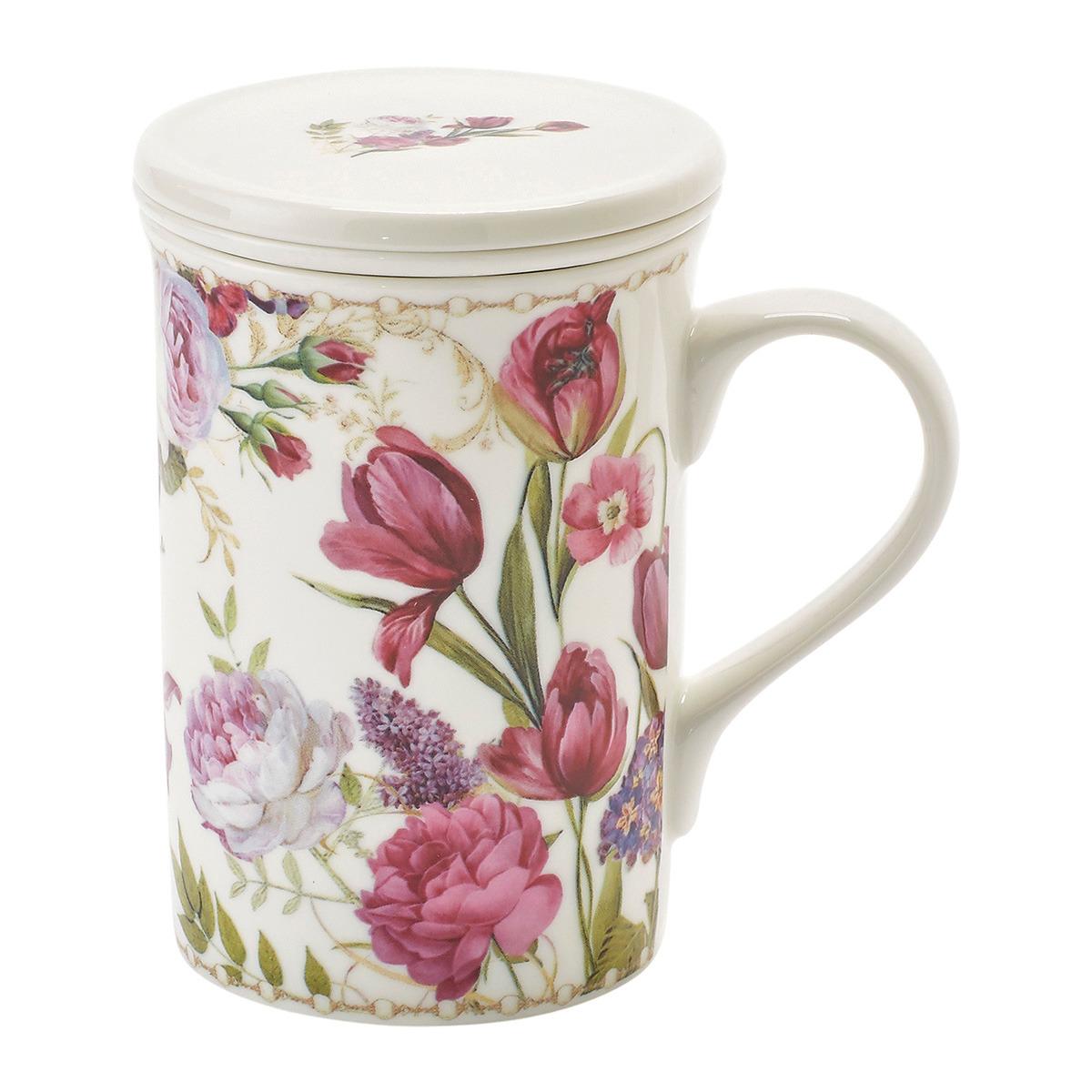 Tisanera con filtro Flor Rosa