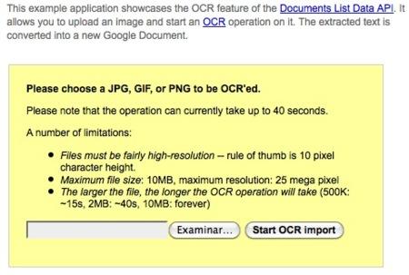 Utiliza la tecnología OCR con Google Docs