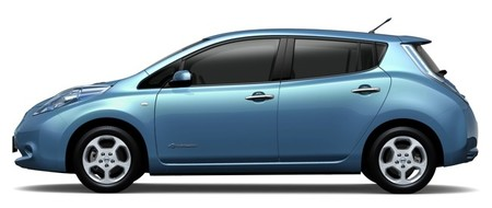 Nissan LEAF 2012 azul 02