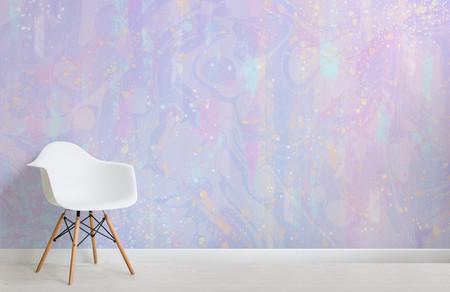Papel Pintado De Unicornios Color Purpura Y Rosa Pastel Chair Web