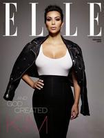 ¿Veo doble? ¡No! Veo triple a Kim Kardashian en Elle UK