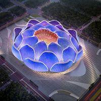 China comienza la construcción del estadio de fútbol más grande del mundo: 100.000 personas en una gigantesca flor de loto