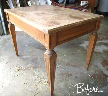 Antes y después: la mesa que se convirtió en la cama del gato