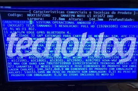 Moto G5 Filtracion Especificaciones