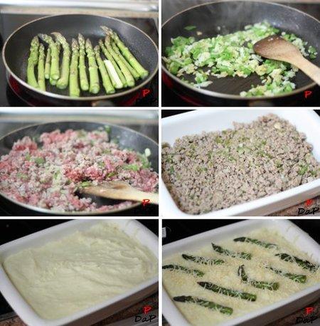 Elaboración del pastel de carne y trigueros