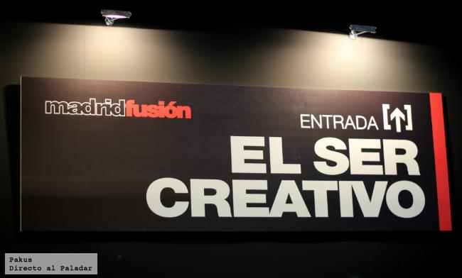 el ser creativo en Madrid Fusión