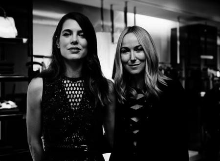 Frida Giannini ofreció ayer un cóctel en honor de Carlota Casiraghi para celebrar el lanzamiento de Gucci Beauty