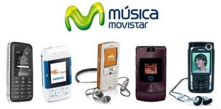 Movistar Música, móviles reproductores de MP3