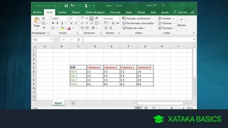 Cómo cambiar filas por columnas en Excel