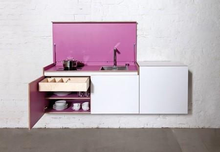 Miniki, una cocina casi invisible para apartamentos pequeños