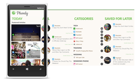 Probando Phonly, un nuevo cliente de Feedly para Windows Phone
