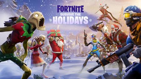 El mapa de Fortnite celebra el día de Navidad y despierta cubierto con un manto de nieve