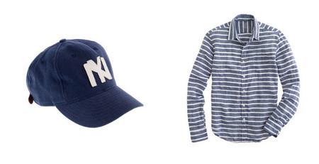 Gorra y camisa lino azul