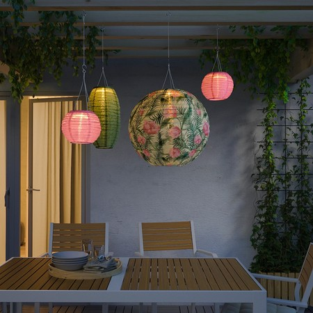 Solvinden Led Solar Powered Pendant Lamp Outdoor Globe Flower 0798076 Pe767118 S5