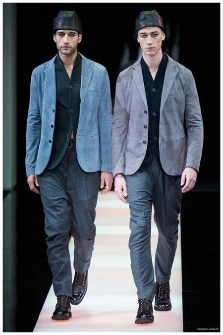 Giorgio Armani Menswear Fall Winter 2015 Collection Milan Fashion Week 026