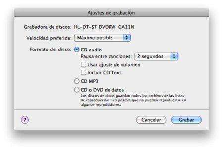 como grabar un cd en mac lion