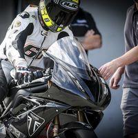 Julito Simón ya ha estrenado el tricilíndrico de Triumph para Moto2, ¡y suena muy bien!