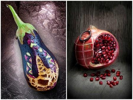 Alimentos tallados. Las bellas fotografías de Ilian Lliev