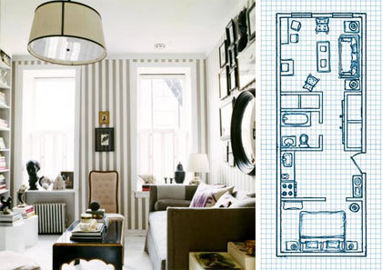 Planos de minipisos vi for Distribucion de apartamentos de 40 metros