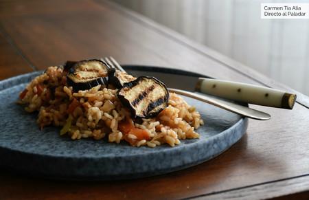arroz meloso con berenjenas
