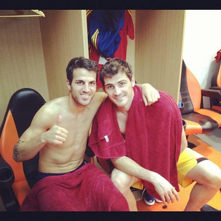Fábregas e Iker