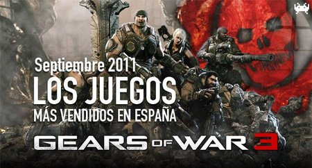 Los juegos más vendidos en España. Septiembre 2011