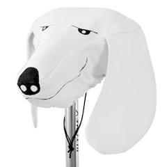 Cabeza de perro funda para el sillín de la bici