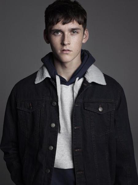 Chaqueta denim borrego Pull & Bear Lookbook