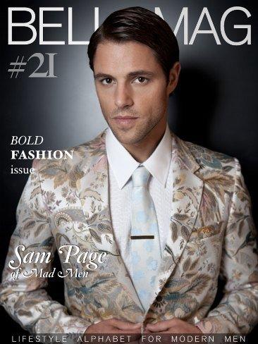 Sam Page, guapo hasta cursi y floreado