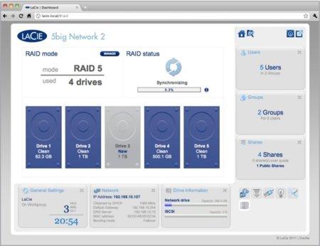 NAS OS 2, la nueva forma de gestionar los discos Lacie