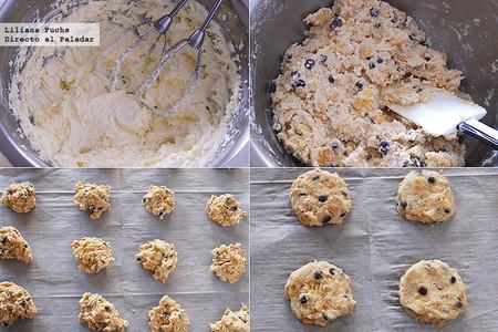 Cookies crujientes con copos de maíz y chips de chocolate. Pasos de la receta