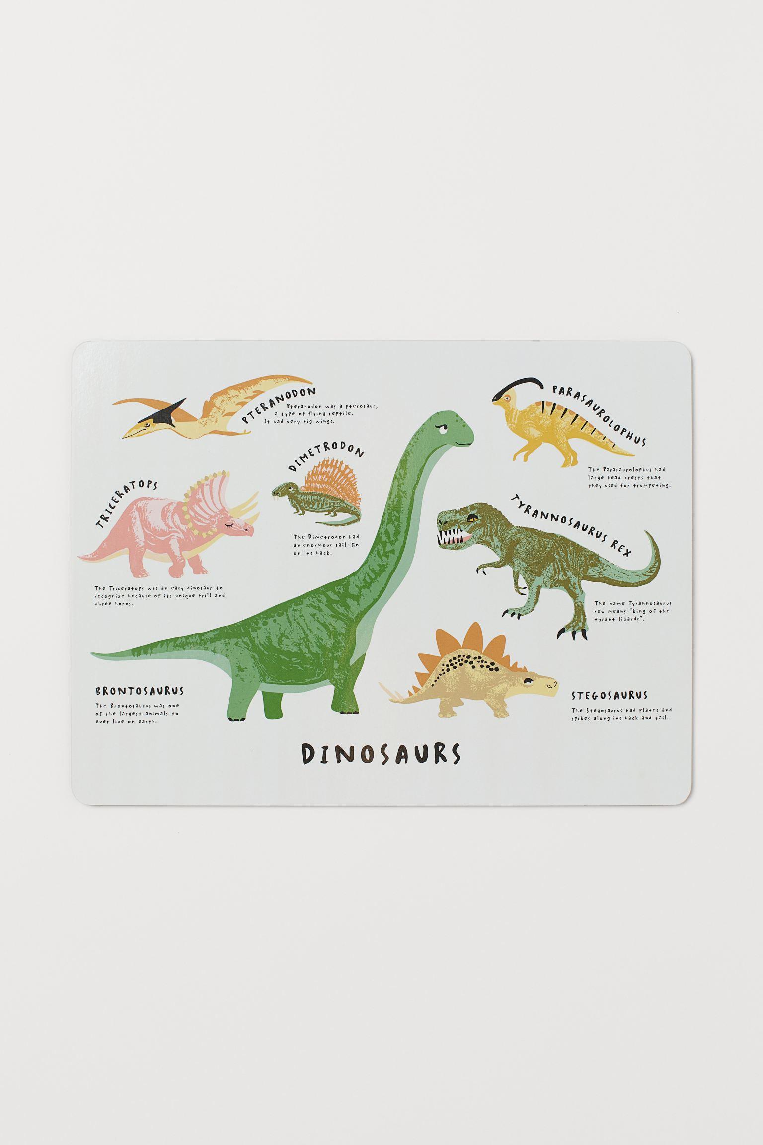 Mantel individual de dinosaurios