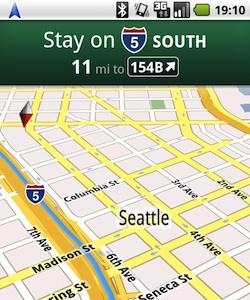 Google Maps Navigation, el futuro de los navegadores GPS de la mano de Google, y gratis