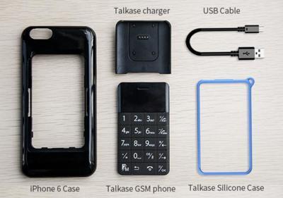 Talkase es un teléfono con el tamaño de una tarjeta de crédito, cabe en una carcasa