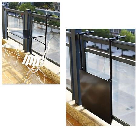 Mesa plegable para balcón o terraza pequeña