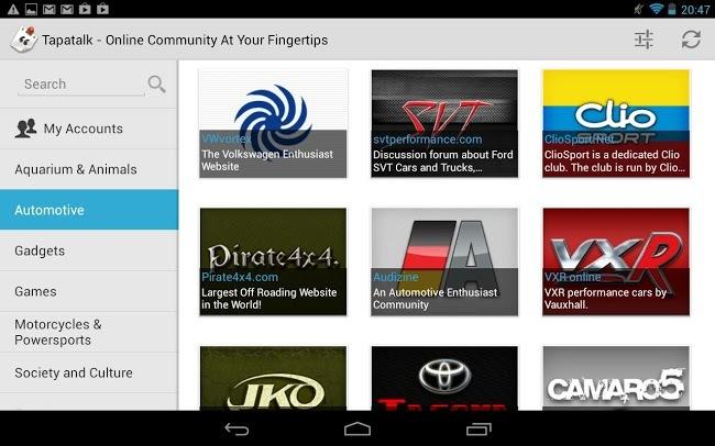 Tapatalk HD para Android