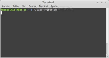 Lanzando Viber para Linux desde el terminal